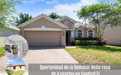 Oportunidad de la semana, bella y acogedora casa en Sanford FL
