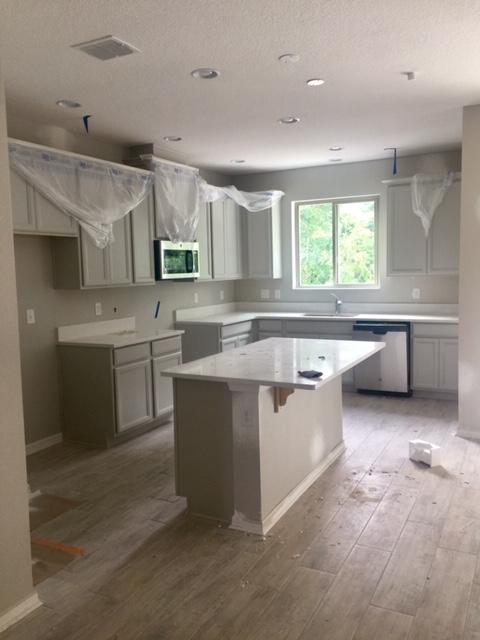 cocina en construcción